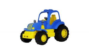 Tractor POLESIE HARDY , Albastru/Galben , lungime 21 cm , Robentoys
