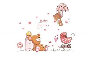 Sticker decorativ, Ursuleti, Baby