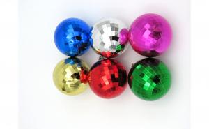 Set 6 globuri colorate, 3 cm