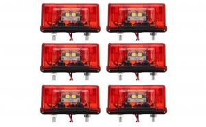 Set 6 lampi LED 12-24V