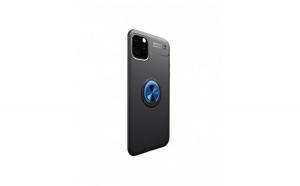 Husa de protectie cu inel metalic rotativ pentru Iphone 11 Pro, albastru