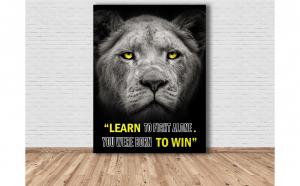 Tablou Canvas Lion 125x93 cm