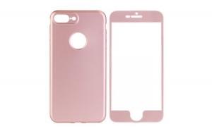 Husa iPhone 6 Plus Flippy Full silicon 360 - Roz Auriu