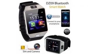 Ceas SmartWatch DZ09 Metalic - Telefon microSIM, microSD, camera