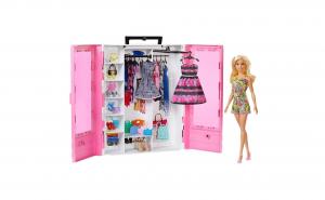 Dulap cu papusa Barbie si accesorii