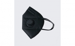 Set 2x masca de protectie tip kn95, neagra, cu valva
