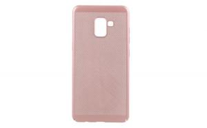 Husa Samsung Galaxy A8 2018 Flippy Ultra Slim cu aerisire Roz Auriu