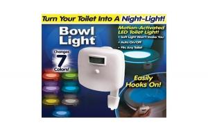 Dispozitiv LED pentru vasul de toaleta, cu senzor infrarosu