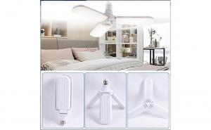 Lampa LED cu 3 brate mobile ajustabile, E27 6500K 45W