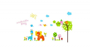 Sticker decorativ, Animale, 145 cm,