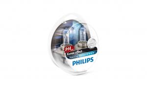 Set 2 becuri Philips, 24v, 75/70w H4 bluevision 13342mdb