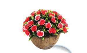 Floare decorativa artificiala in ghiveci 12 cm
