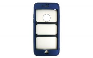Husa iPhone 7 Flippy Full Silicon 360 - Albastru