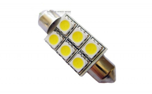 Bec LED Festoon - Sofit C5W 6 SMD 39mm