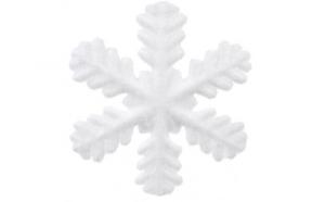 Ornament de brad Craciun fulg de zapada 24 cm