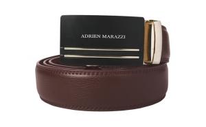 Curea barbati din piele Adrien Marazzi AM-2607 - maro cu auriu