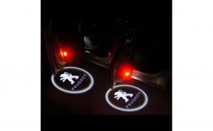 Lampi led logo portiere universale Peugeot