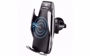 Incarcator Wireless auto, 10W, prindere grila ventilatie, ventuza + Cadou, lampa birou
