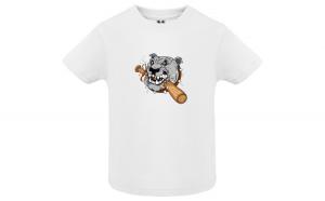 Tricou baieti  Bad Doggie, Bumbac 100%, Imprimeu Digital, 13 CLOTHING, Culoare Alb