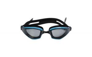 Ochelari pentru inot din silicon, negru/siel, 12+ ani