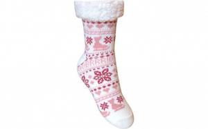 2 x Ciorapi botosei, interior imblanit, pentru femei, Model Winter Season