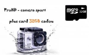 Camera Sport ProHD - Full HD, 1080p, 12 MP, rezistenta la apa pana la 30M adancime - calitate similara cu GoPro Hero 3+, acum la 329 RON in loc de 1280 RON!