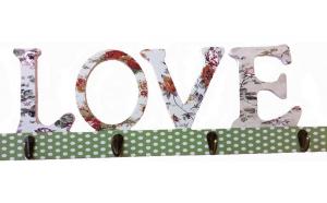 Cuier cu 4 agatatori, Love, 45 cm,, Ziua indragostitilor, Voi doi