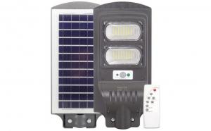 Lampa solara stradala 60W cu panou solar, acumulator, senzor de miscare, LED