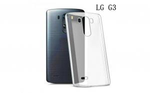 Husa Slim transparenta din silicon LG G3