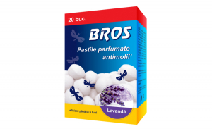 BROS – bile parfumate anti molii, 20 buc