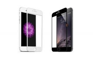 Folie de sticla 5D, pentru iPhone 8 Plus, Neagra sau Alba