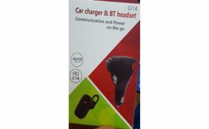 Casca Bluetooth cu difuzor + dual USB