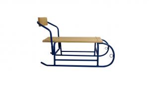 Sanie pentru copii cu spatar detasabil, metal + lemn, 80 x 24 x 29,5 cm