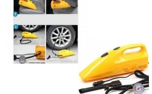 Compresor - aspirator auto recomandat pentru umflat rotile masinii, saltele, barci pneumatice si mingii, la doar 95 RON in loc de 180 RON