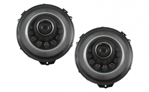 Set 2 faruri Bi-Xenon LED compatibil cu Mercedes W463 G-Class (2005-2017) M-look