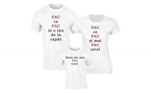 Set de tricouri pentru Familie Fac inca