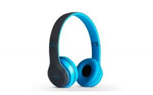 Casti bluetooth P47 Albastru cu microfon
