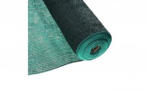 Plasa umbrire, polietilena, protectie UV, verde, grad umbrire 75 %, 1.5 x 10 m