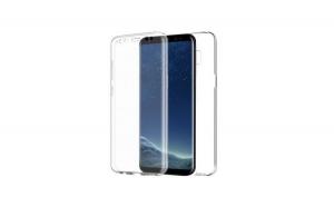 Husa Samsung Galaxy S8 Plus G955 ultra slim 0.3 mm 360° fata-spate transparenta