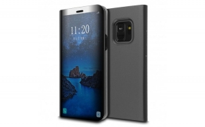 Husa Samsung Galaxy S9 Flippy Flip Cover Oglinda Negru