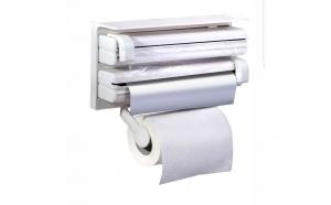 Dispenser de bucatarie triplu, pentru hartie, folie aluminiu si folie stretch