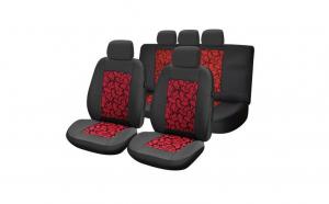 Huse scaune auto compatibile MERCEDES Clasa E W211 2002-2009 PLUX (Negru + Rosu)