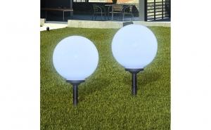 SET 2x lampa solara Led Glob20, la doar 76 RON redus de la 189 RON