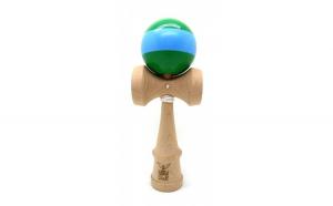 Kendama Ball Originala Stripe Bleu Lemn Fag Verde