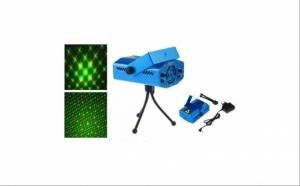 Mini Proiector laser cu 2 diode si jocuri de lumini pe ritmul muzicii