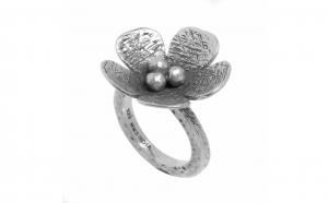 Inel din argint - Floare