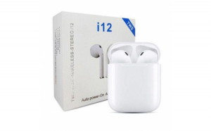 Casti Bluetooth Wireless i12 TWS Waterproof, Touch Control, sunet 3D