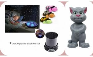 Jucarie Talking Tom + Broscuta proiector stele + Cadou proiector, constelatie Star Master