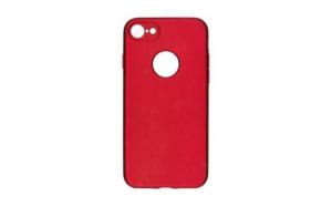 Husa iPhone 8 Flippy Full Silicone 360, Rosu + Folie de protectie cadou