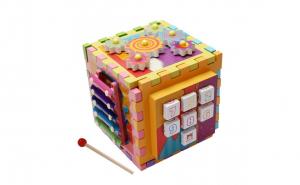 Cub activitati Montessori 6 in 1 Xilofon